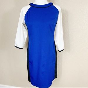 Sexy Gracia royal blue/white 3/4 sleeves dress M